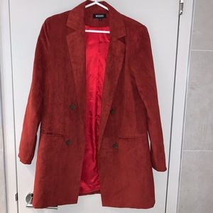 Misguided faux suede blazer